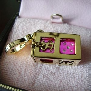 Juicy Couture RARE Vegas Pink Pave Dice Set Charm